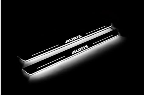 Накладки порогов с статической подсветкой для Toyota Auris II c 2013